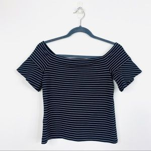 Seed Heritage Cropped Top Stripe Size S